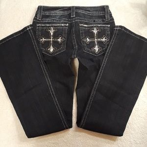 Miss Me Girls Boot Jeans Size 12 Stretch